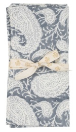 Tygservett 2-pack Big Paisley 50x50cm - Sea Blue