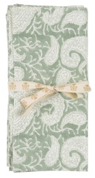 Tygservett 2-pack Big Paisley 50x50cm - Sea Foam