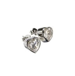 Earring Heart - Silver