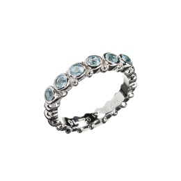 Ring Pretty Blue Topaz - Silver