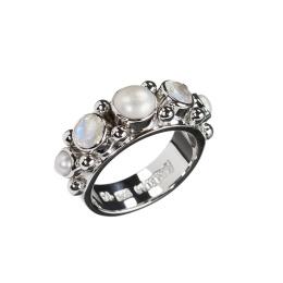 Ring Sweetheart Pearl Zicron - Silver
