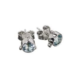 Earring Darling Blue Topaz - Silver
