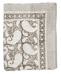 Duk Big Paisley 150x230cm - Charcoal Grey