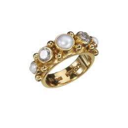 Ring Sweetheart Pearl Zicron - Gold