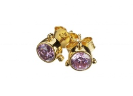 Earring Darling Pink Zicron - Gold