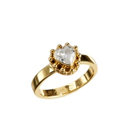 Ring Lucy Heart 6mm Zicron White - Gold