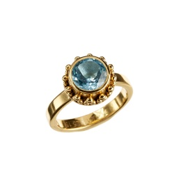 Ring Moana Blue Topaz - Gold