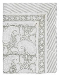 Duk Big Paisley 170x270cm - Light Grey