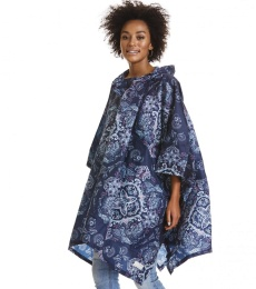 Monsoon printed rainponcho - Dark blue