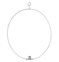 Ljusring Oval 56cm - Silver