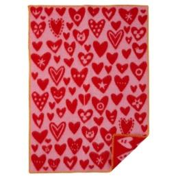 Baby Ullfilt Heart - Rosa/Röd