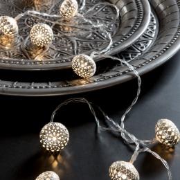 Ljusslinga - Silver Balls
