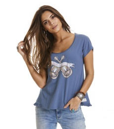 Holiday mood t-shirt - China blue