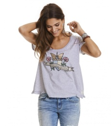 Holiday mood t-shirt - Light grey melange
