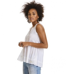 Fin-tastic sleeveless blouse - Bright white