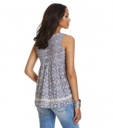 Fin-tastic sleeveless blouse - Light porcelain
