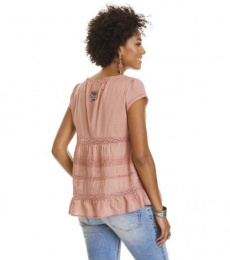 Coral s/s blouse - Rose taupe