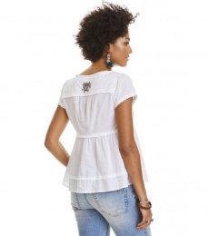 Fin-tastic s/s blouse - Bright white