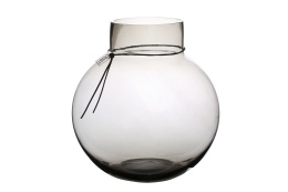 Glasvas Rund - Rökgrå