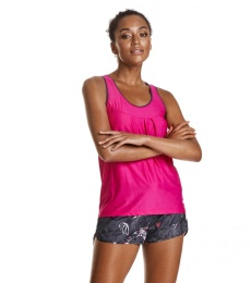 Sweat it tank top - Peony solid