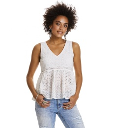 Solo sleeveless blouse - Light chalk