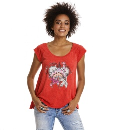 Rock star t-shirt - Cayenne red
