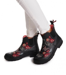 Rubber rose rainboot - Multi