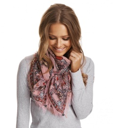 Lay down scarf - Milky pink