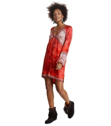 Turned on tunic - Red