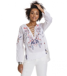Stand out l/s blouse - Bright white