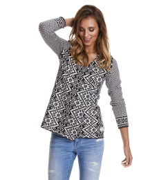 Buzzard Wrap Cardigan - Black
