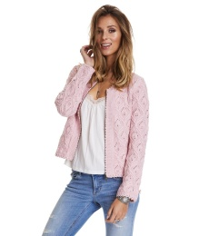 Harmony Knitted Jacket - Pink