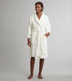 Cozy Bathrobe 3/4 - Light Chalk