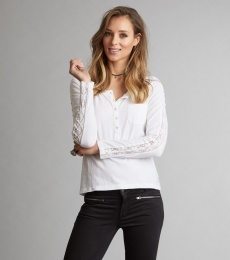 Charming l/s Top - Bright White