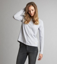 Sunshiny Sweater - Light Grey Melange