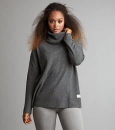 Fresh Air Turtleneck - Dark Grey Melange