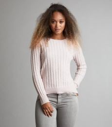 Ribbey Sweater - Light Rose