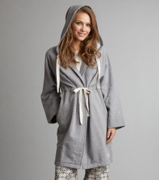 Taking On Bathrobe - Grey Melange