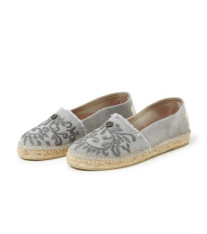 Oddspadrillos Embroidered - Light Grey