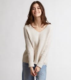 Rib It In Sweater - Light Chalk