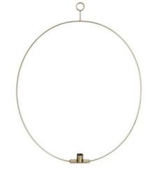 Ljusring oval 56cm - Solid mässing