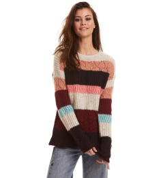 Wolly Blocks Sweater - Red Sky