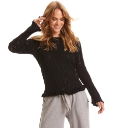 Pretty On The Loose Sweater - Almost Black
