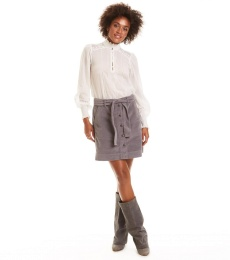 No Other Way Skirt - Stormy Grey