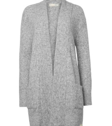 Soft Empress Long Cardigan - Light Grey Melange