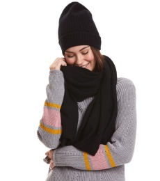 Sunrise Rhythm Scarf - Black