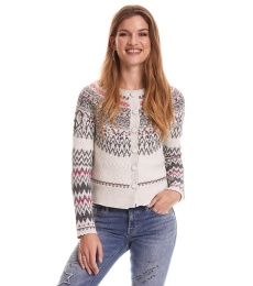 Vivid Vibration Cardigan - Chalk