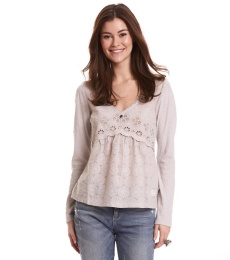 Circular Blouse - Warm Grey