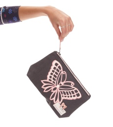 Flickering Dawn Makeup Bag - Asphalt
