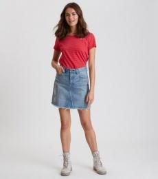 Hot Cuts Skirt -Mid Blue